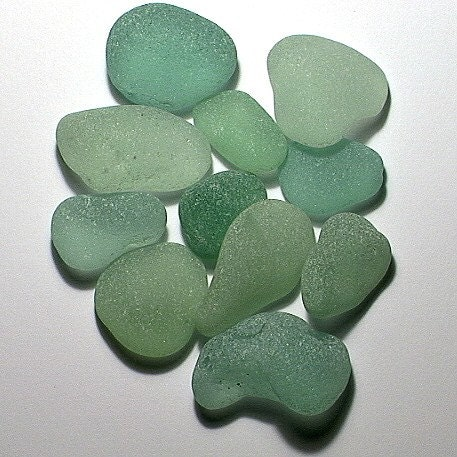 11 Unusual Seafoam Domes -- Seaglass Treasures