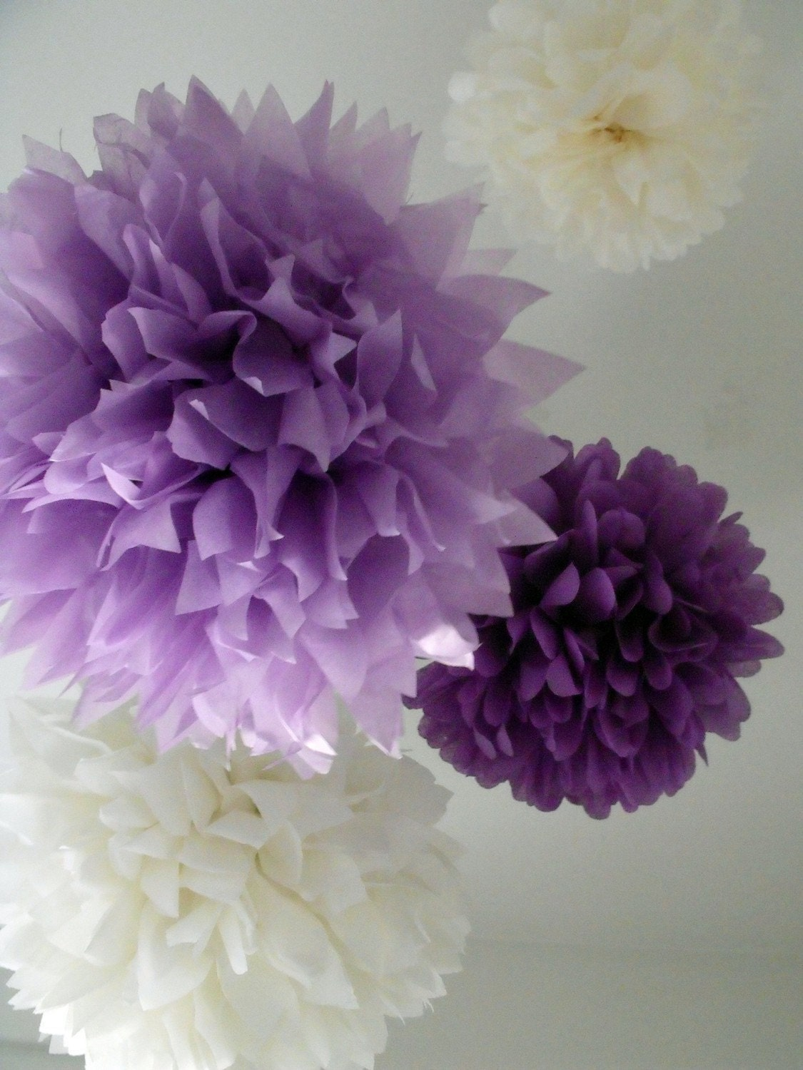Pompoms paper poms ...  10 Poms ... Pick Your Colors - Budget Diy Craft Kit - pomtree