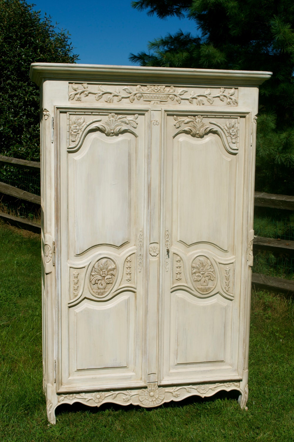 items similar to sold antique shabby chic hand painted. Black Bedroom Furniture Sets. Home Design Ideas