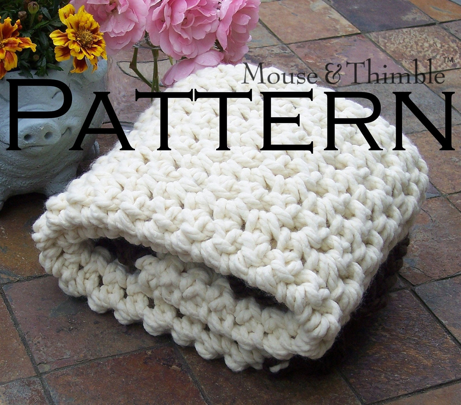 Chunky Photo Prop Baby Blanket Beginner Crochet and Mouse Crochet Blanket Patterns Using Chunky Yarn