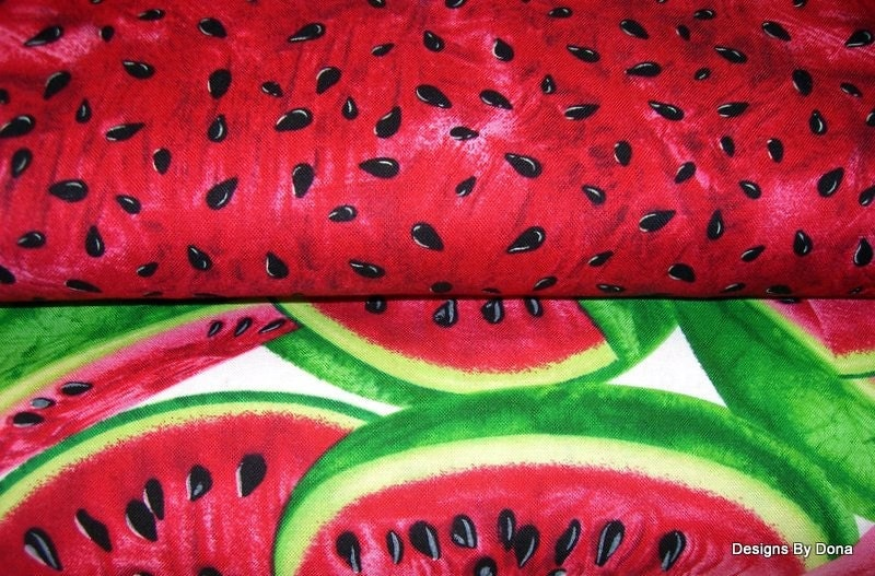 Fabric, Watermelon Slices and Seeds, 2 yard bundle