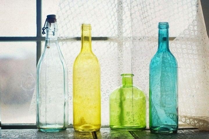 Glassy Bottles 12x8 Signed Print