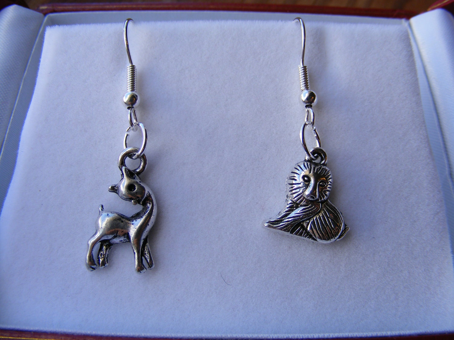 Lion & the Lamb Silver Earrings
