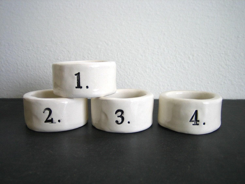 1- 4  napkin rings.
