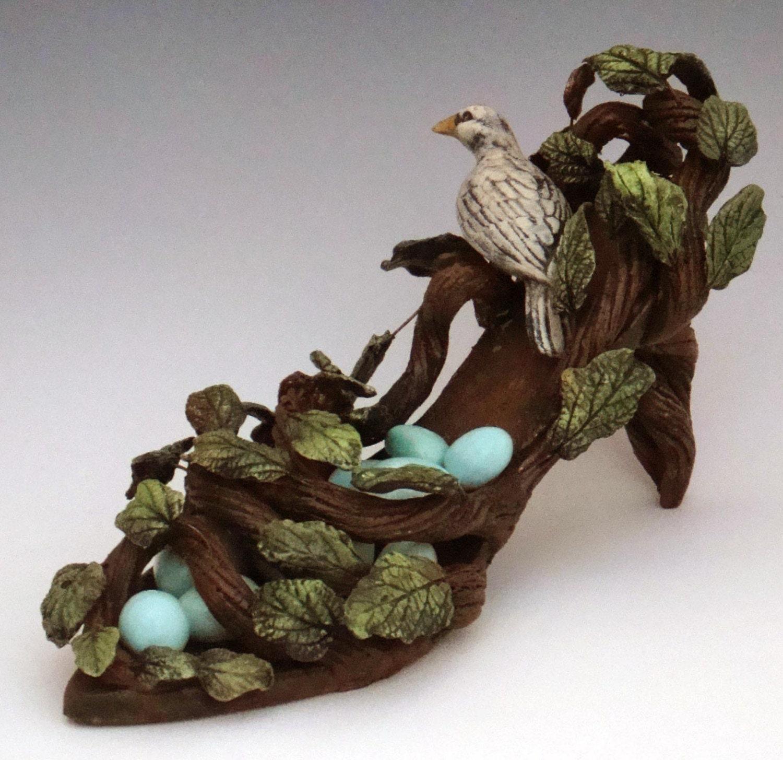 Birds Nest Shoe Sculpture Made to Order