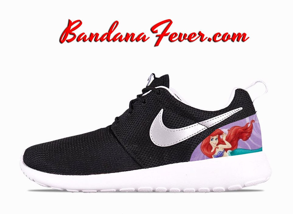 d460a935fabda Nike The Little Mermaid Roshe Run Women s by BandanaFeverDesigns good