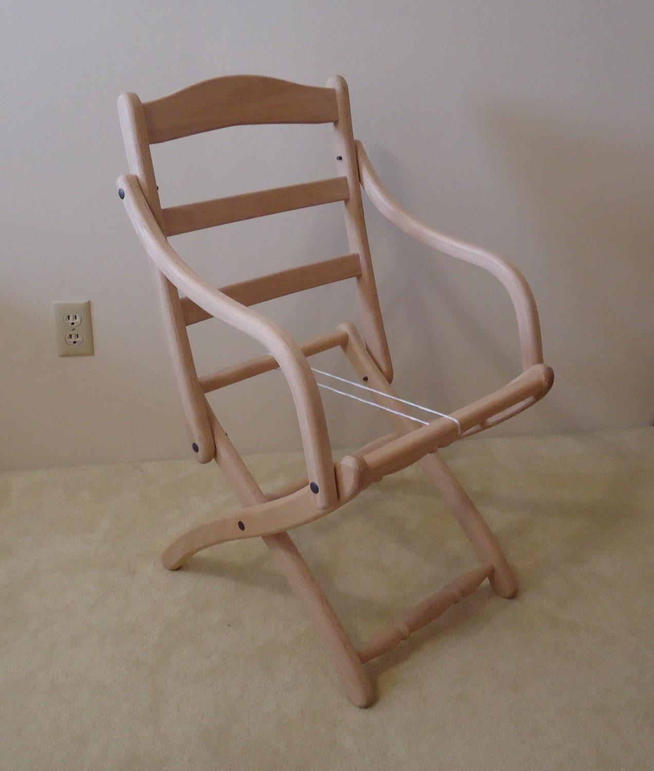 Civil War Folding Arm Chair Unfinished DIY Project by PaWoods