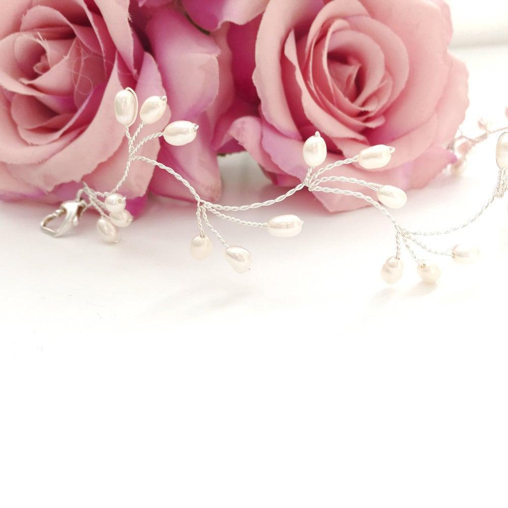 Pearl Bridal Bracelet Pearl Wedding Bracelet Freshwater Pearl Bracelet Bridal Jewelry Wedding Jewelry Bridal Bracelet Pearl Bridesmaid