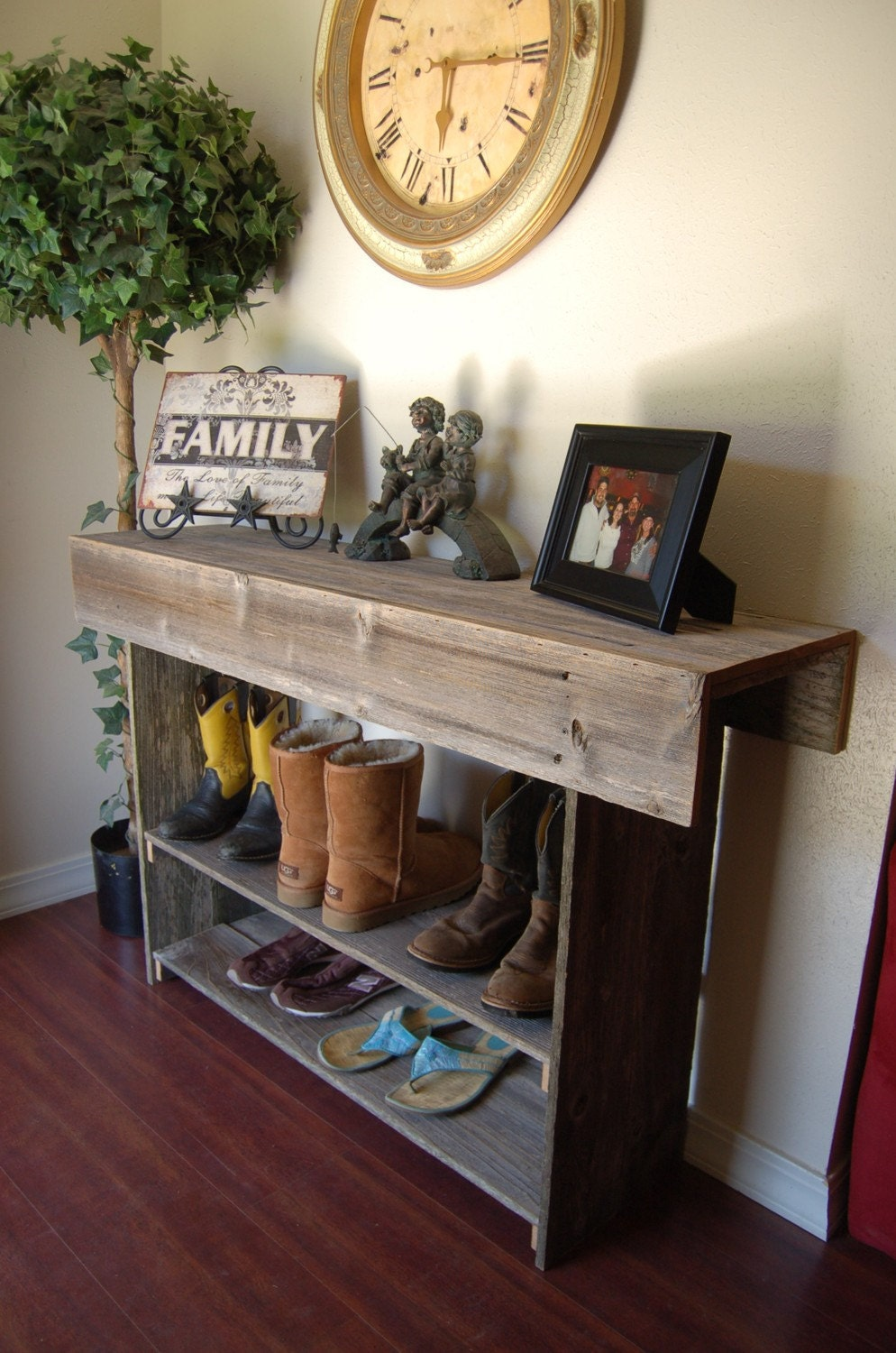 wood entry table
