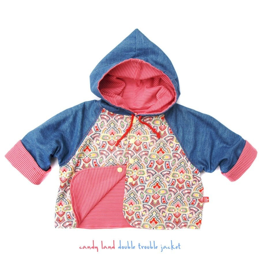 Candyland reversible hoody size 2-3
