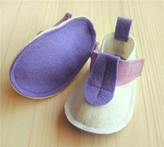 Pop - Finland white - wool felt baby shoes