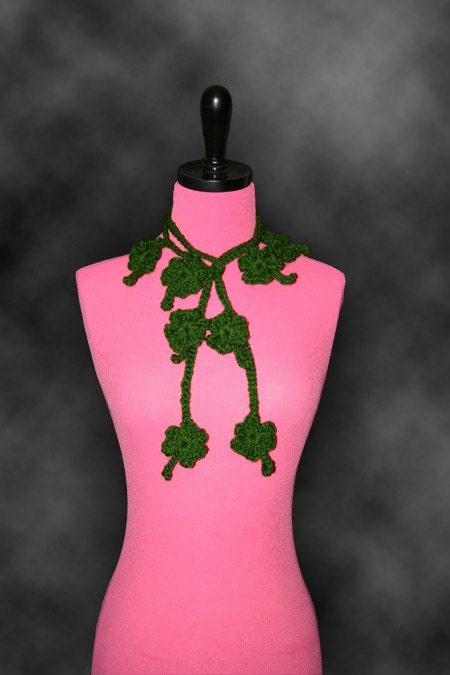 Irish Crochet Rose and Shamrock Edging Free Pattern