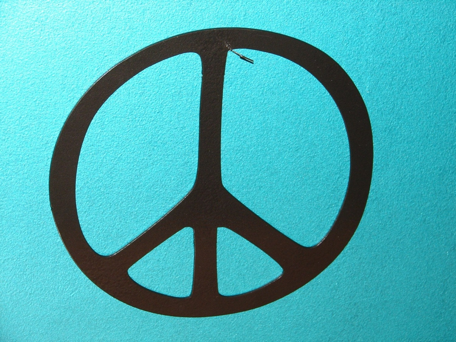 Peace Sign Metal Wall Decor Art Home 12 In Diameter By