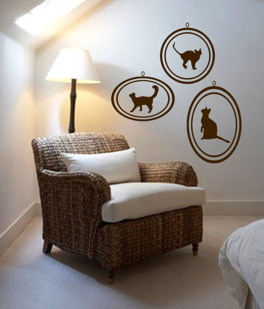 Handmade Art on Etsy - ShaNickers Wall Decal-Framed Print Collection-Cats--FREE SHIPPING by shanon1972 from etsy.com