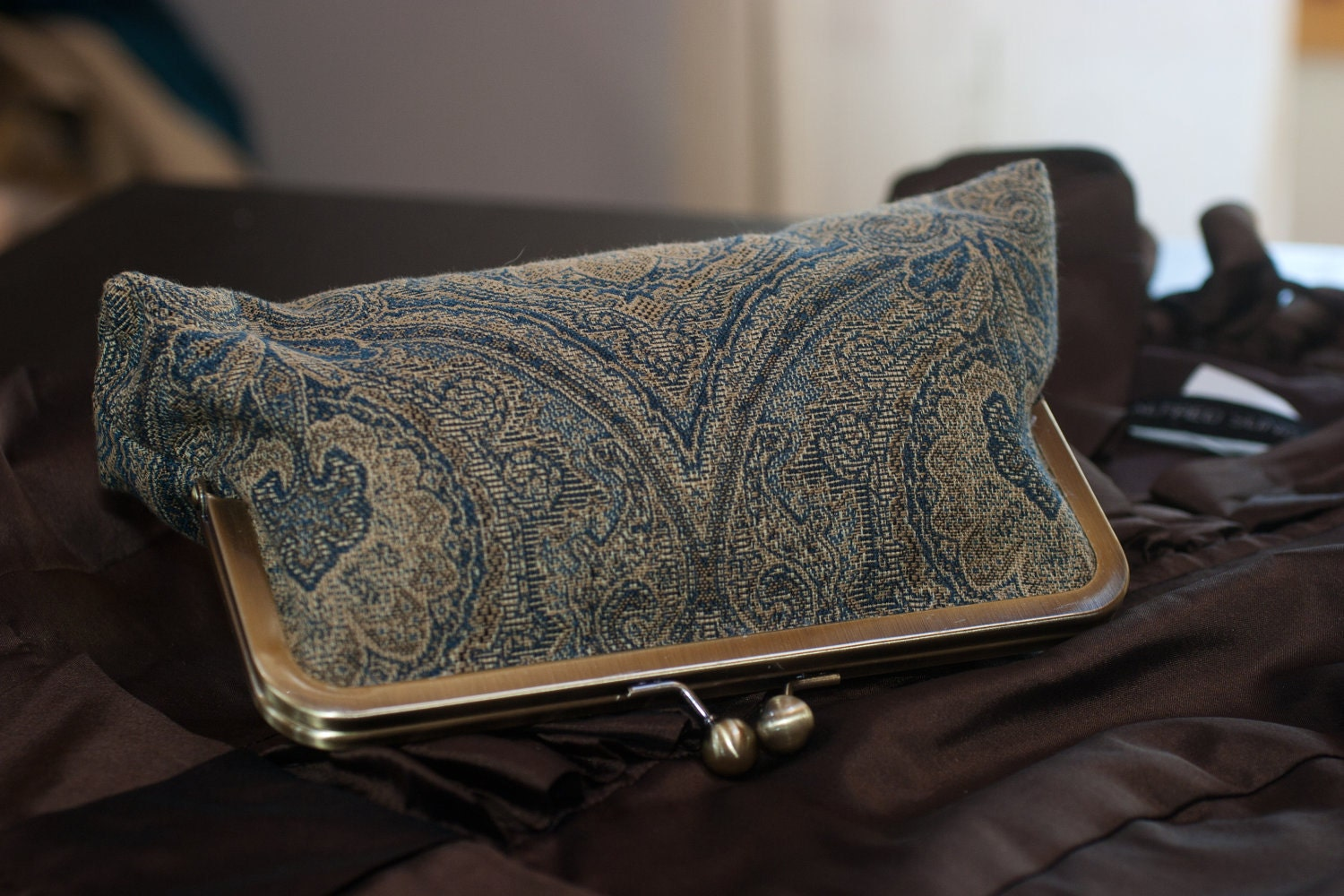 Peacock Clutch Made to Order for Bridemaids - LuluCaswell
