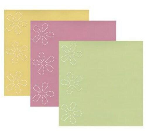 Scrapbook Cardstock Paper Bazzill In Stitch'z Spring