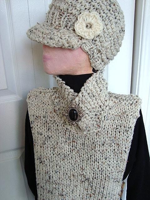 KNITTED PATTERN no 90 TABARD VEST IN SIZES XSMALL TO by ashton11
