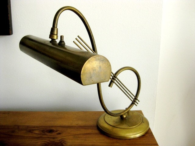 Vintage Piano Lamp with Music Note