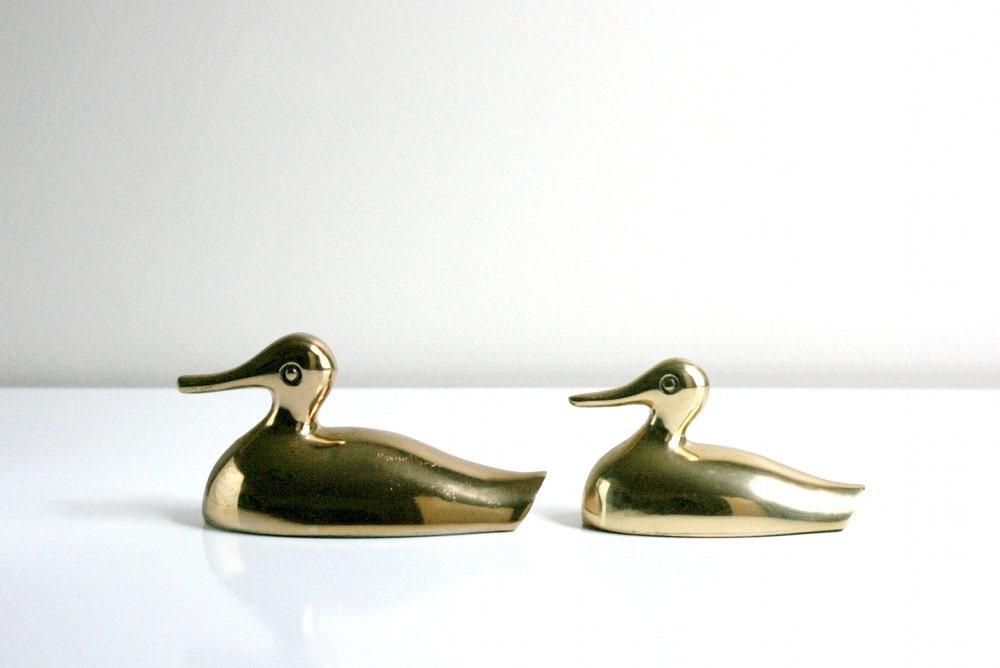 Vintage Brass Ducks