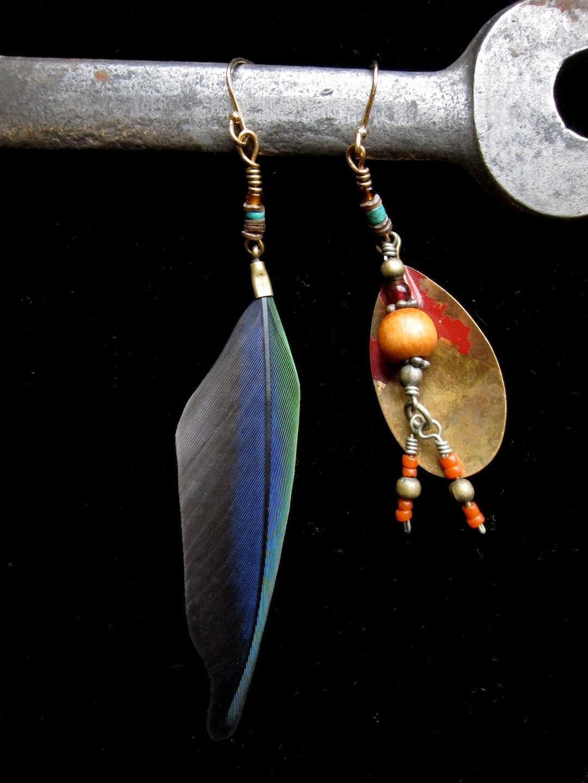 Jack Sparrow Earrings (brass lure)