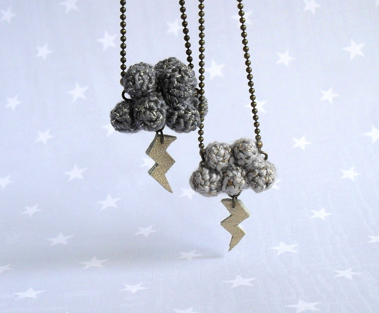 Little storm-Necklace Cloud with lightning