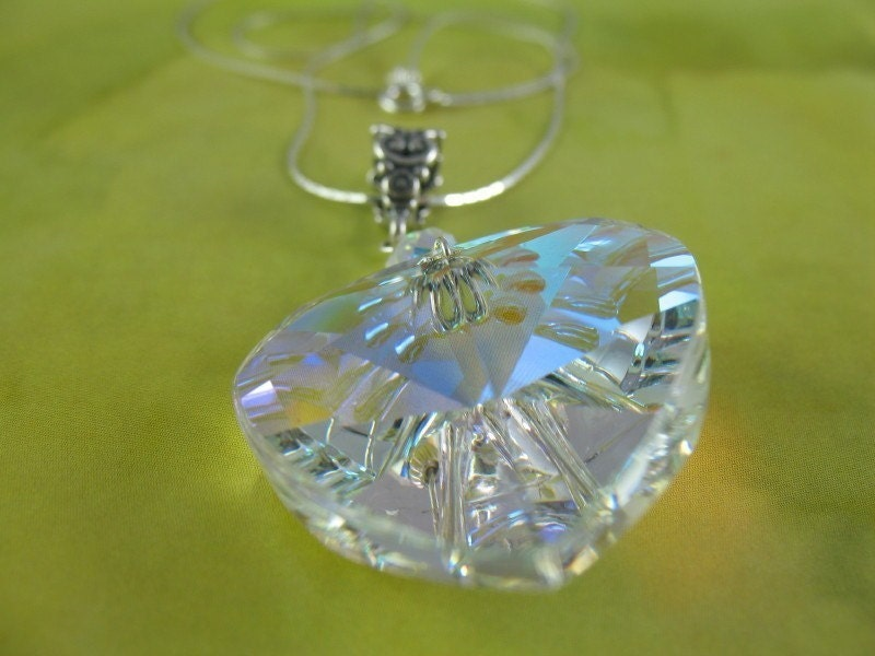 Look After My Heart - Giant Crystal Heart Necklace