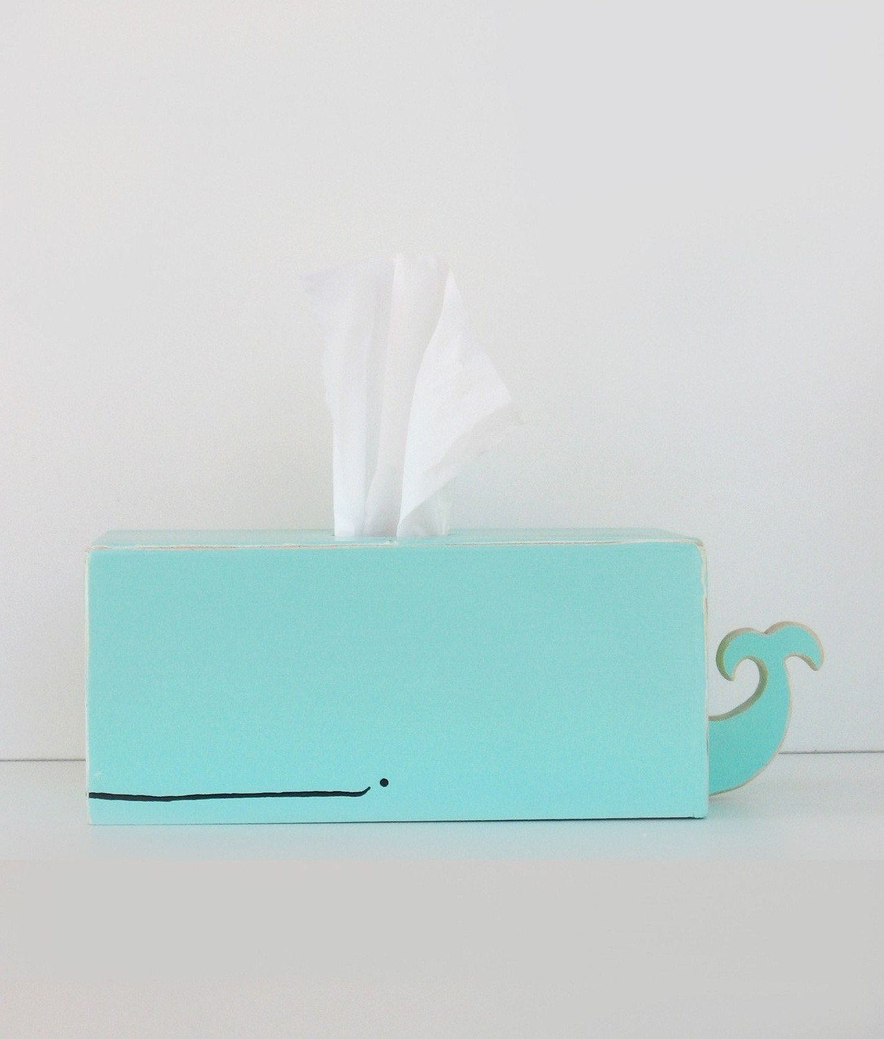 Whale Tissue Holder - Light Blue - July 4 Special