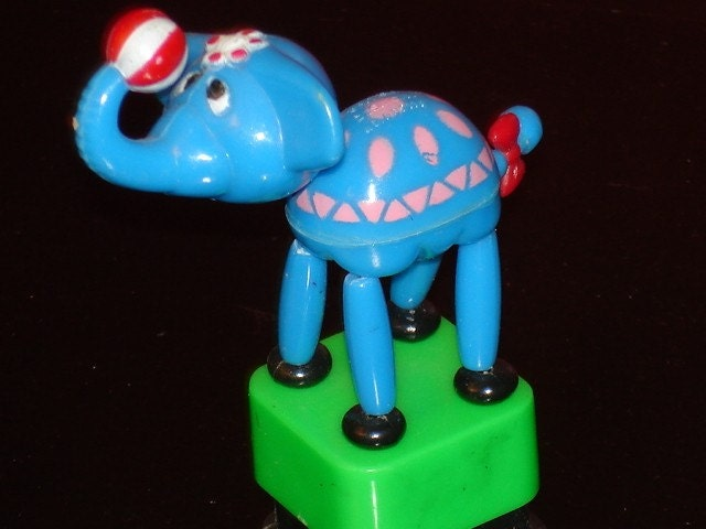 vintage Kohner Bros.push button Elephant Puppet