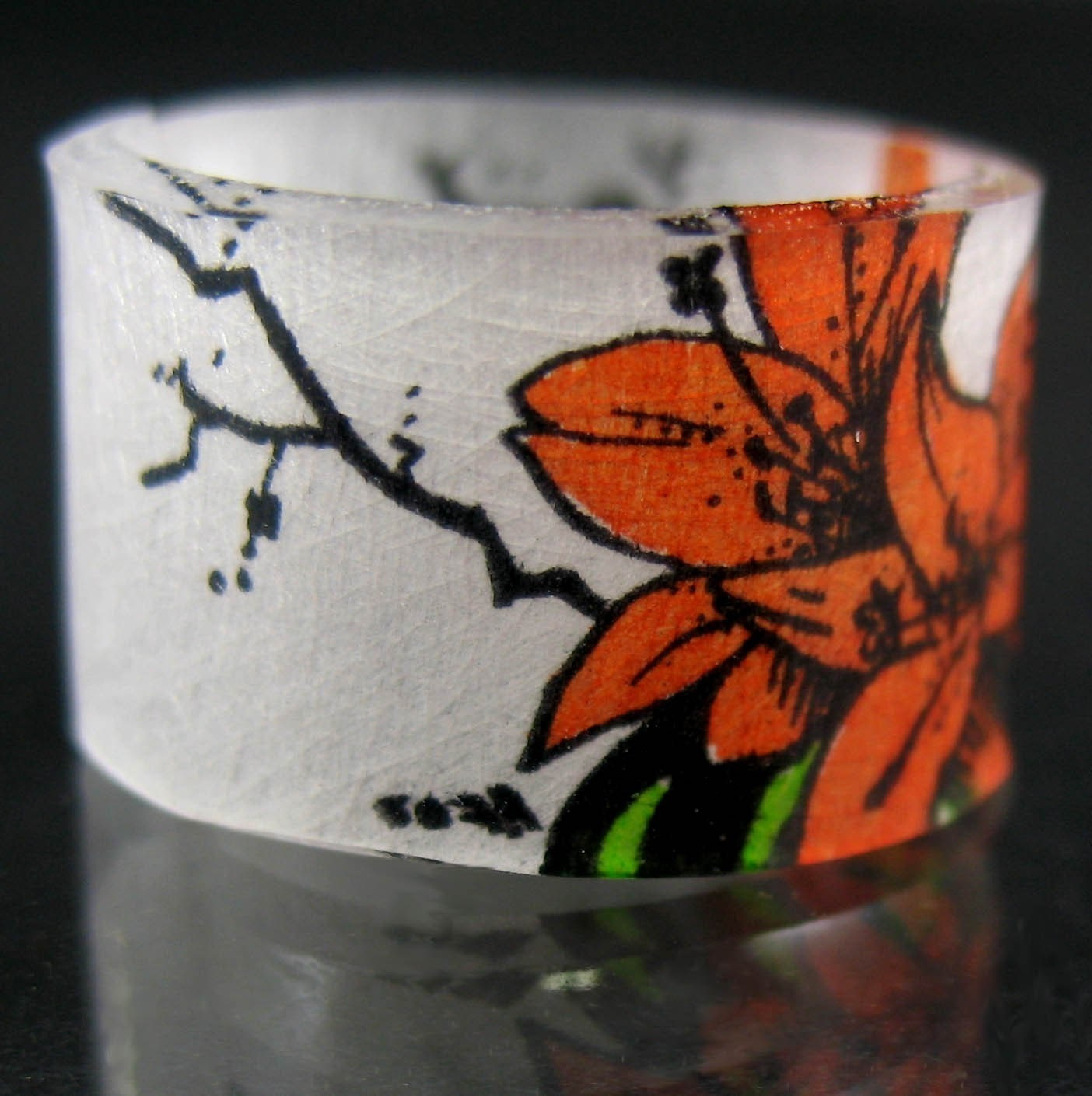 Orange Tigerlily Ring : Asian iCandy Store, Unique Asian Arts and Gifts From Independent Artists :  tigerlily jewelry ring