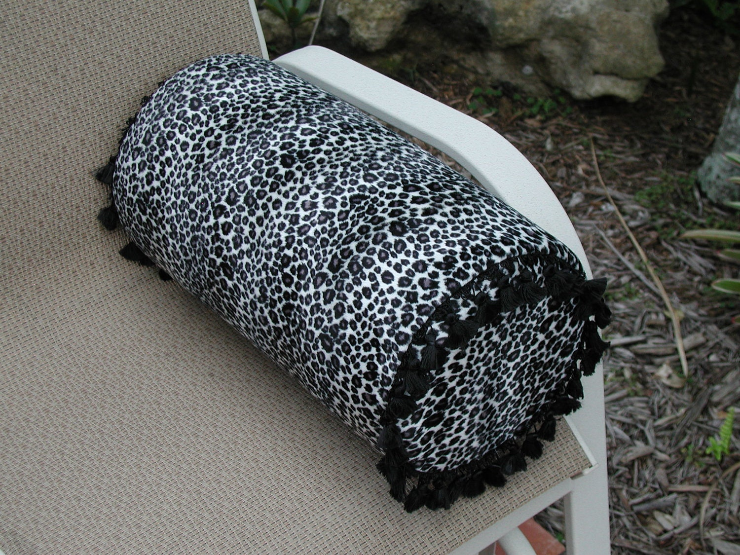 Large 9 inch Round Animal Print Bed Bolster by rrdesigns561