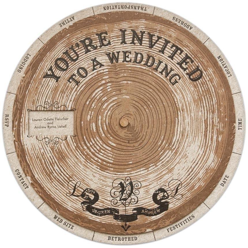 Wedding Wheels invitation templates