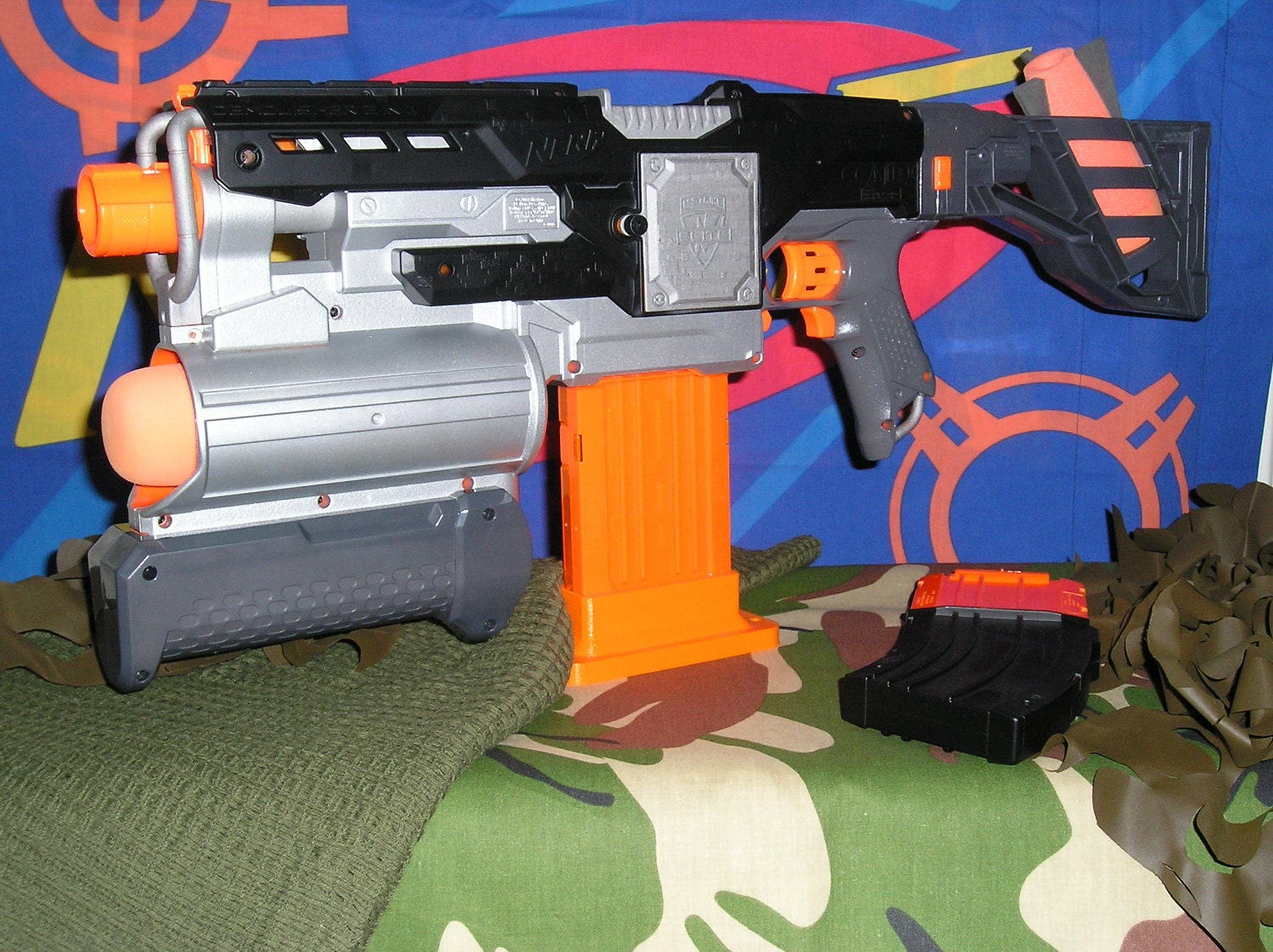 Nerf Demolisher Modified (Basher Supersonic motors and ReWire)