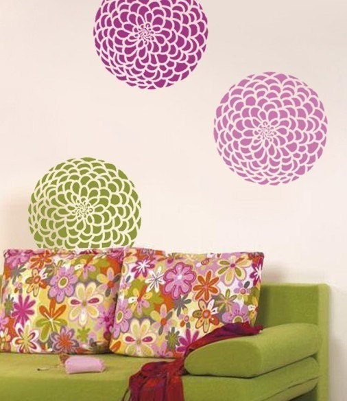 Alfa img showing flower stencils for wall painting - Flower stencils for walls ...