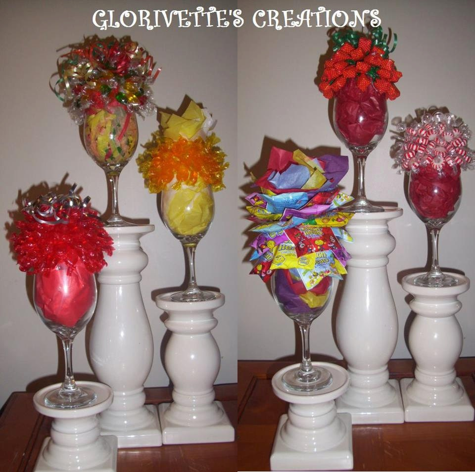 Wine Glass Candy Bouquets Sale Price By Glorivettescreations