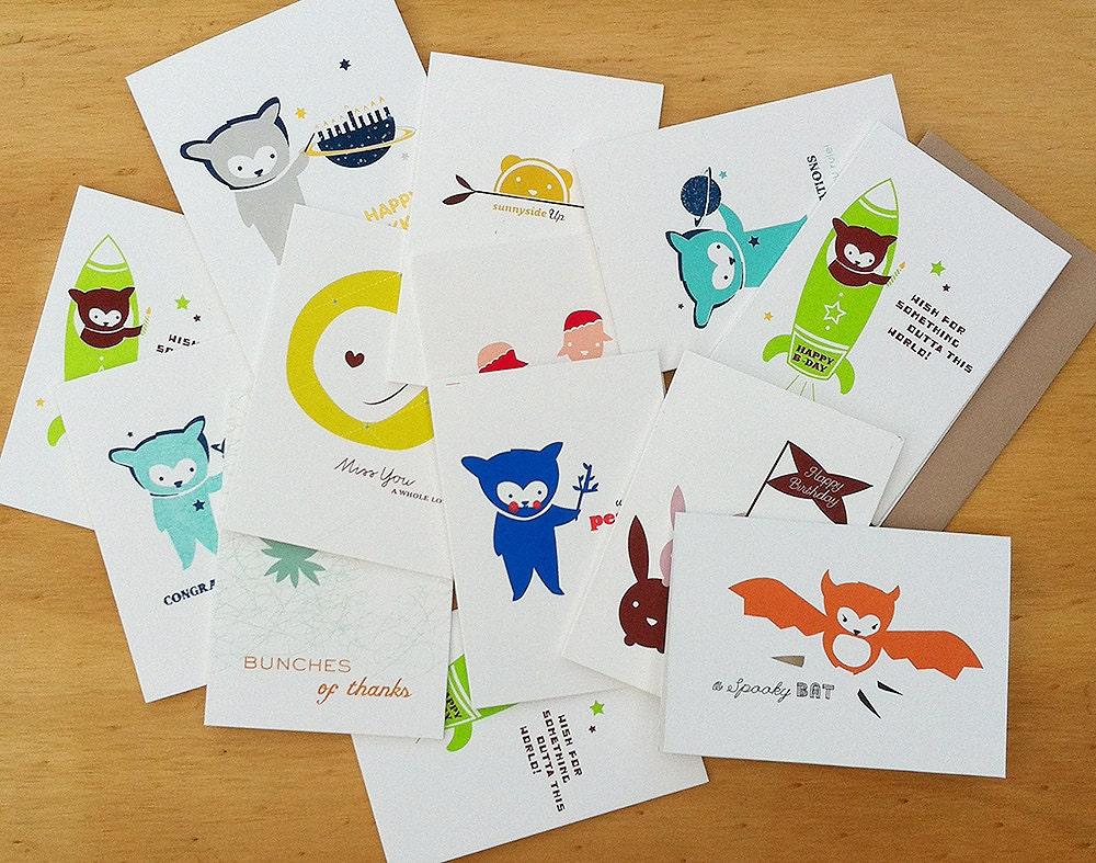 cub report card silk screened designs