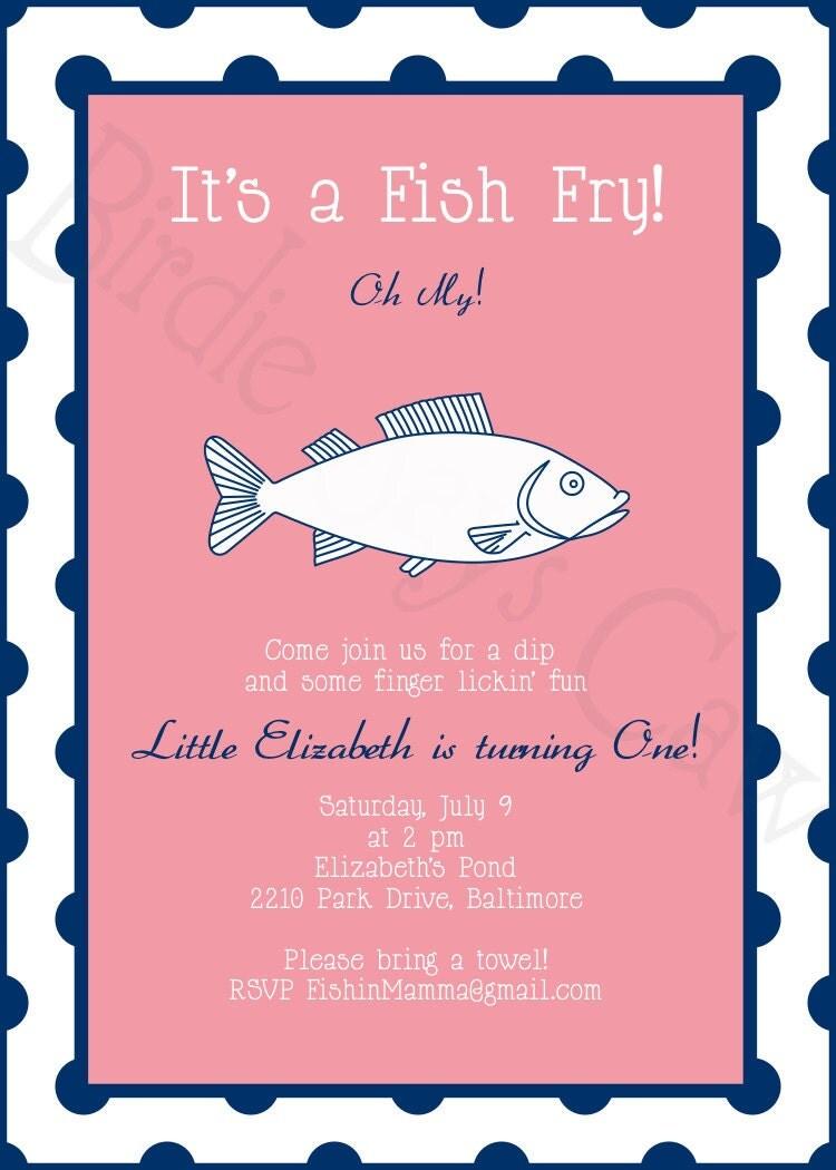 Free Invitations Template » Fish Fry Invitation Template ...