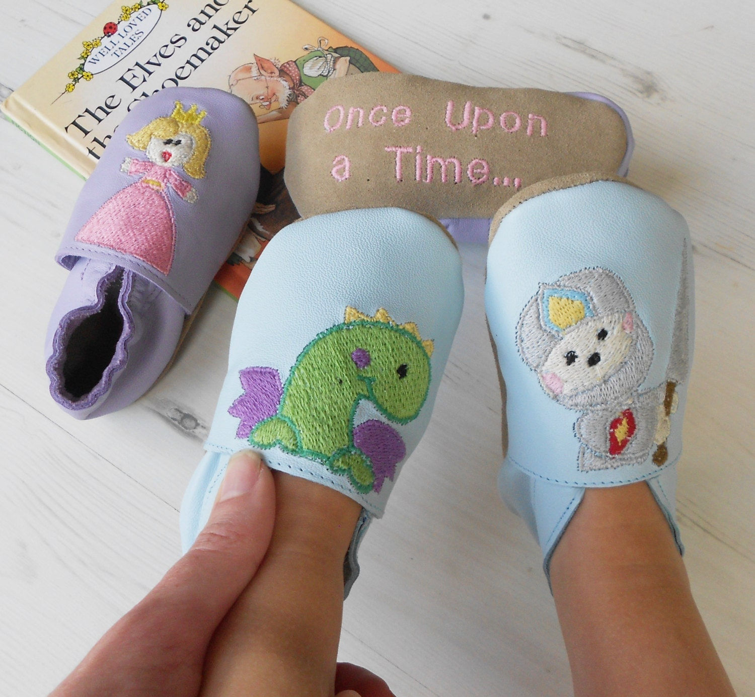 Personalized baby shoes  Story Telling Shoes  leather baby shoes  baby shoes girl  baby shoes boy  fairytale baby shoes  baby keepsake