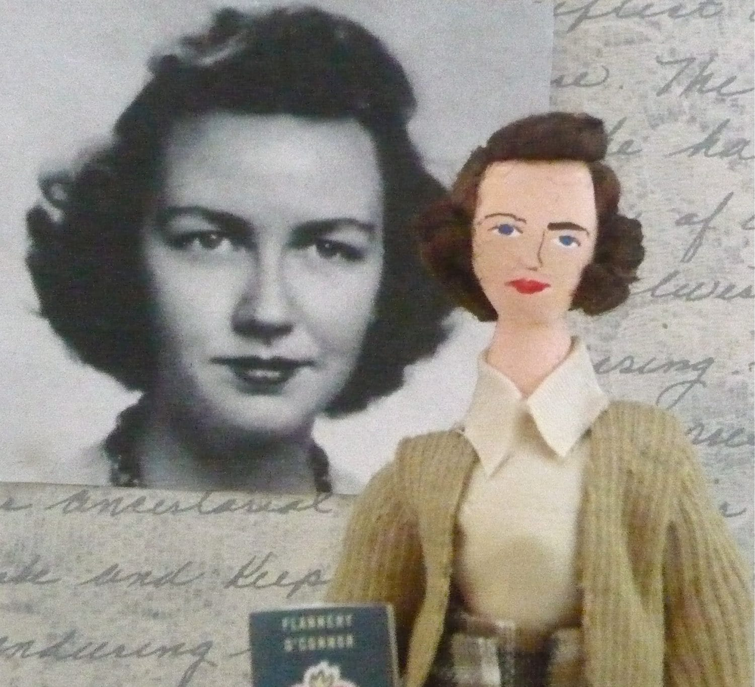 Flannery O' Conner Miniature Literary Collectible Writer Doll