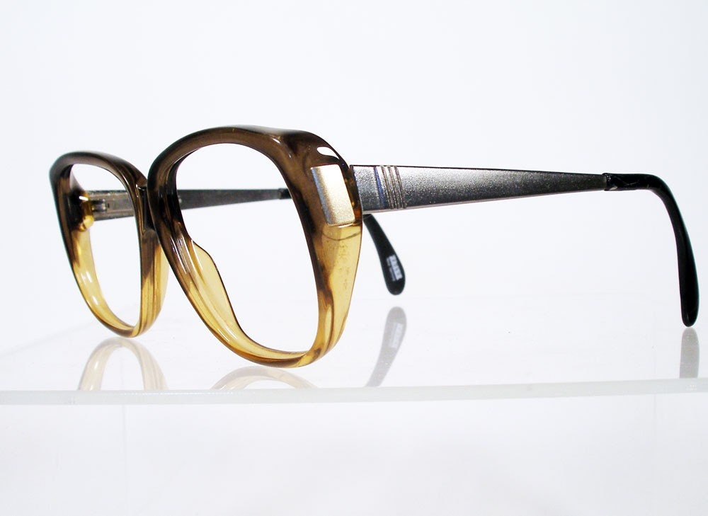 Vintage ZEISS Brown Fade Mens Eyeglass Frames by Chigal ...