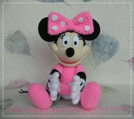 Crochet Patterns For Minnie Mouse : Minnie Mouse 10 inches PDF amigurumi crochet pattern by ...