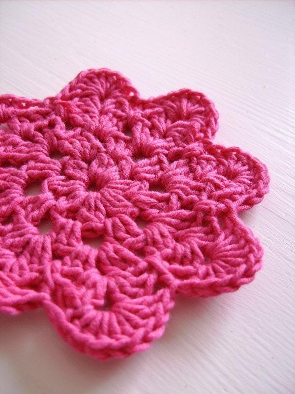 Crochet Flower Coaster Pattern