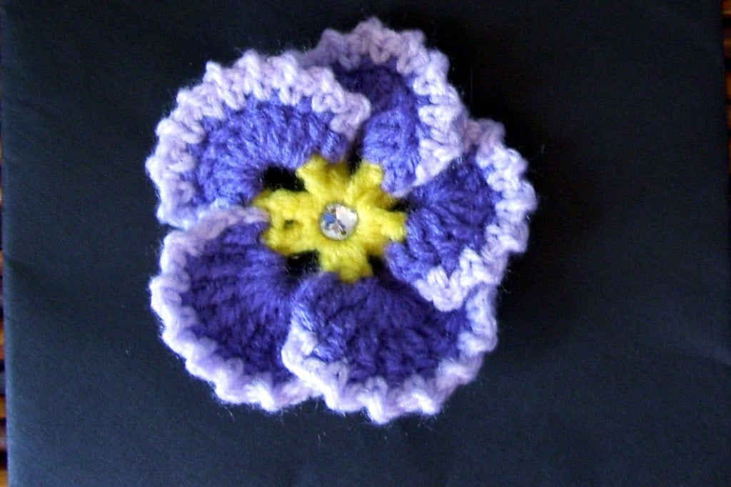 Purple Pansy Hair Clip