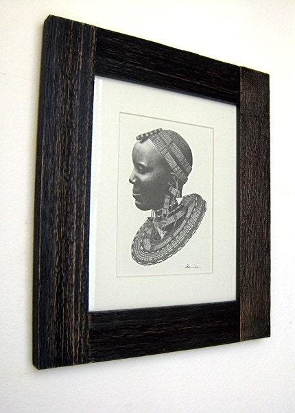 Masai matted print