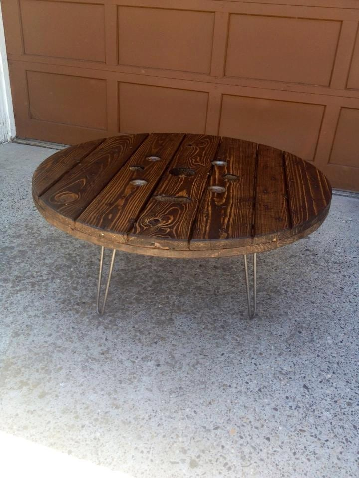 Spool Coffee Table Reclaimed Cable Spool Coffee Table