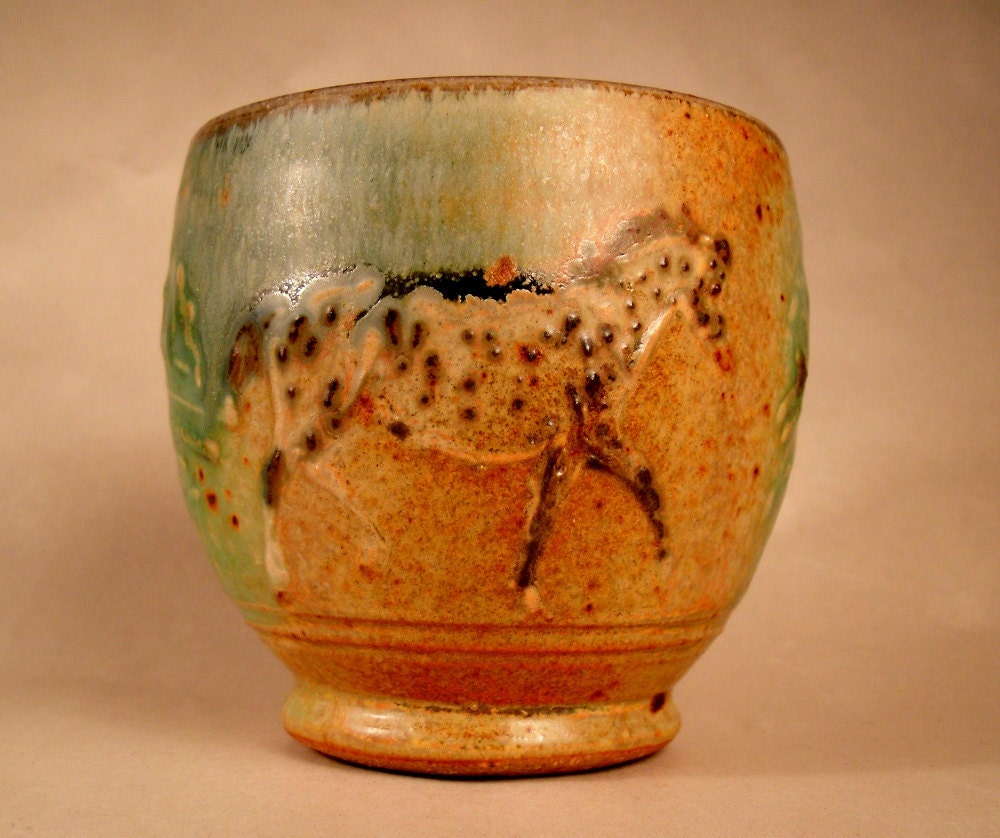 Wee Tea Bowl with Leopard Appaloosa Horses