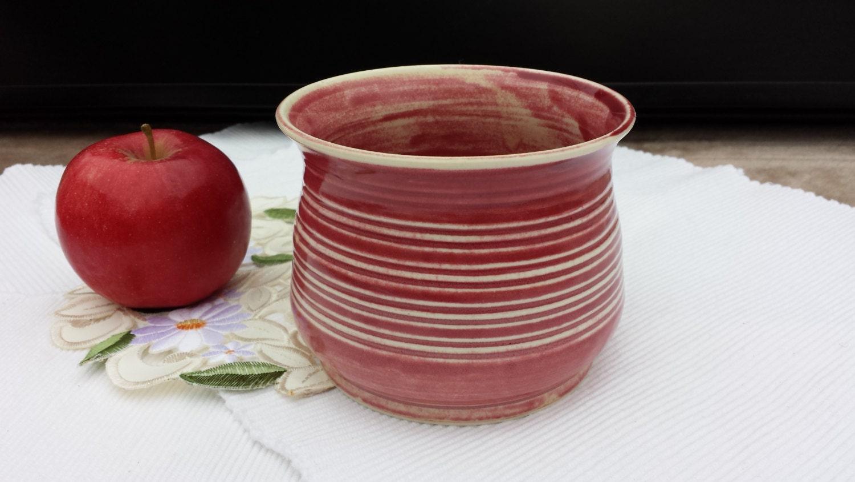 Bowl - Planter - Flower Pot - Versatile Bowl - Decorative Pottery - Dishwasher Safe - Food Safe - Rose / Cream - Porcelain - Oven/DW Safe