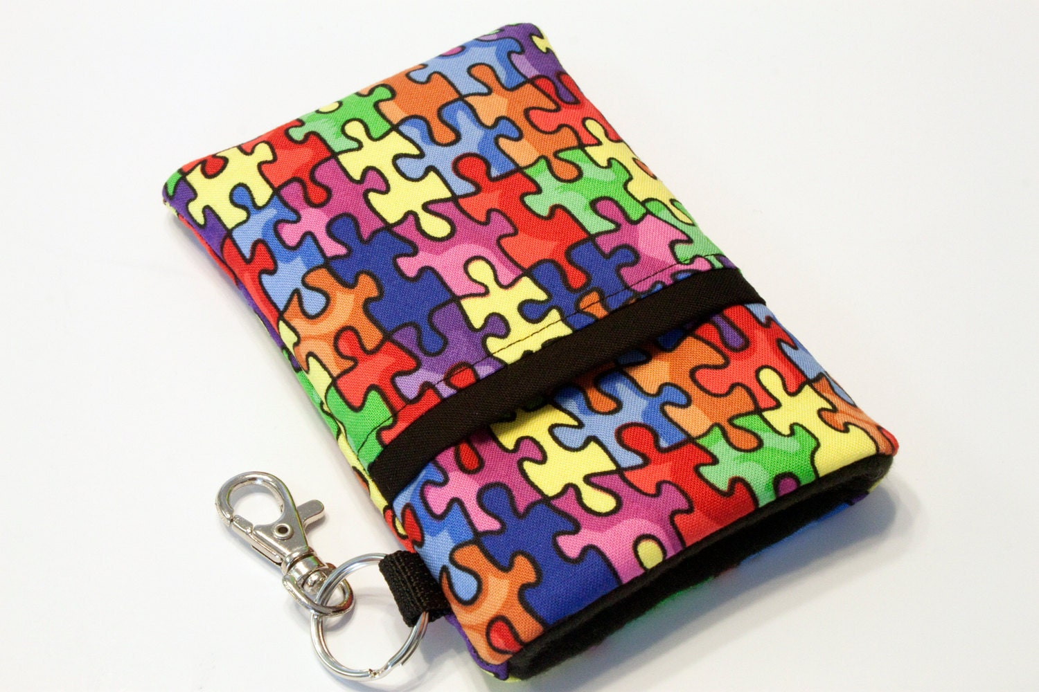 Fabric Smartphone Pouch iPhone 5 Pouch Iphone 4 4s by kreatedbykim