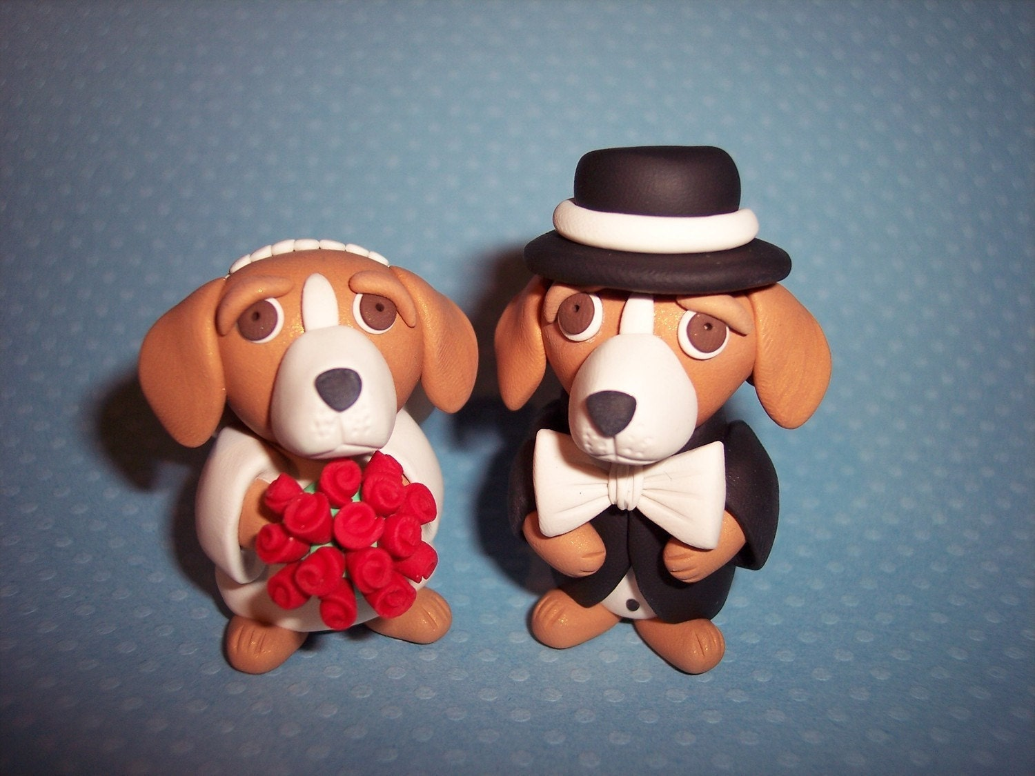 Large 3 inch Beagle Wedding Cake Toppers