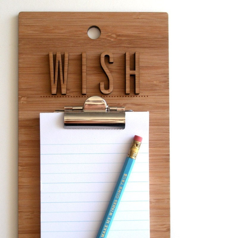 Make my wish come true clipboard by decoy lab http://www.etsy.com/shop/decoylab
