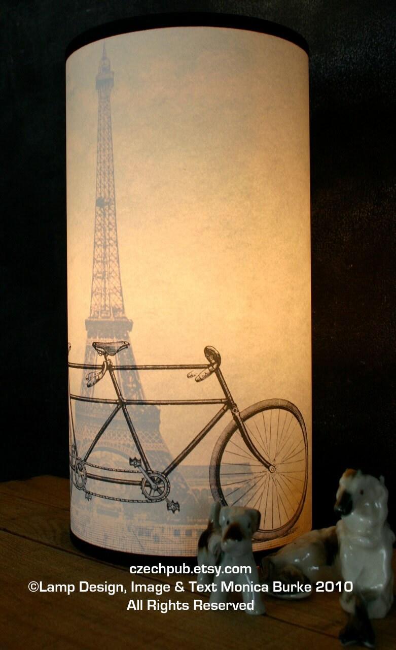 Помните Париже Тандем ВЕЛОСИПЕДЫ бумаги лампы